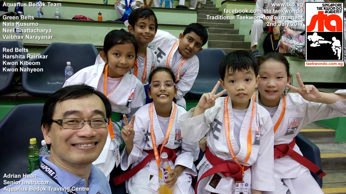 Aquarius Team Competition Tournament Kids Children Self Defence Martial Arts Bedok Reservoir Tampines East Coast Club School Adrian Huan Senior Instructor Singapore Taekwon-do Academy HQ Traditional Taekwondo STA TKD SG