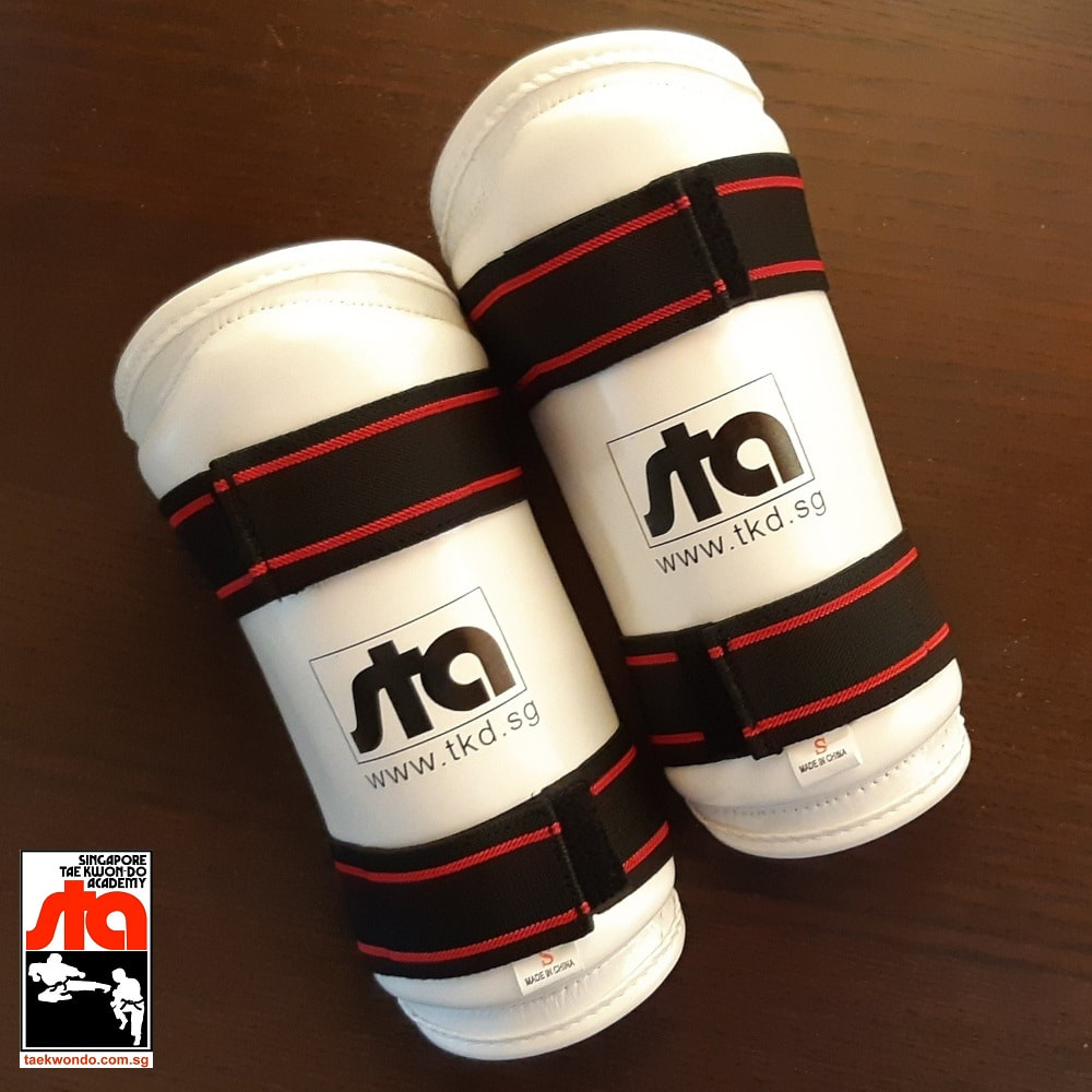 STA Fore Arm Guards Pad Shin Leg Singapore Taekwon-do Academy HQ Grandmaster BS Huan Taekwondo International TKD
