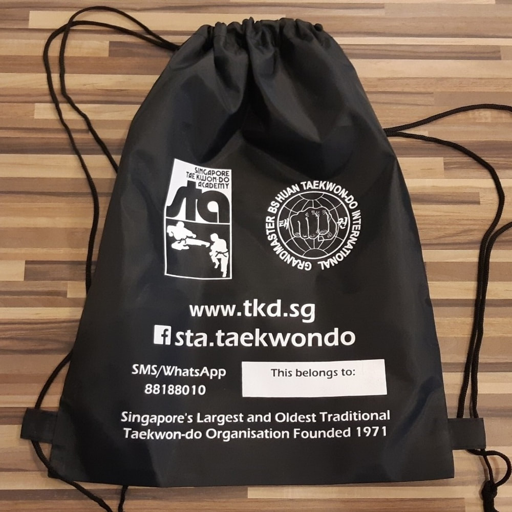 STA Drawstring Gears Carry Bag Singapore Taekwon-do Academy HQ Grandmaster BS Huan Taekwondo International TKD