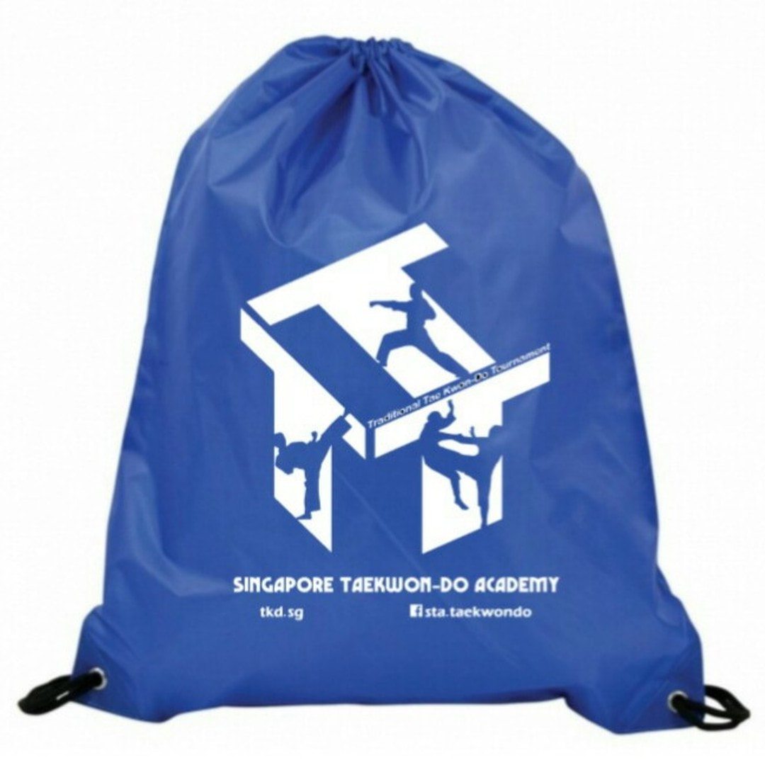 Drawstring Bag T3 Logo Limited Edition Singapore Taekwon-do Academy HQ Taekwondo TKD SG