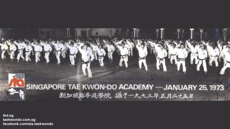 Serangoon Perumal 1973 Grand Master BS Huan Largest Oldest Governing Organisation Singapore Taekwondo Academy STA Black Belt