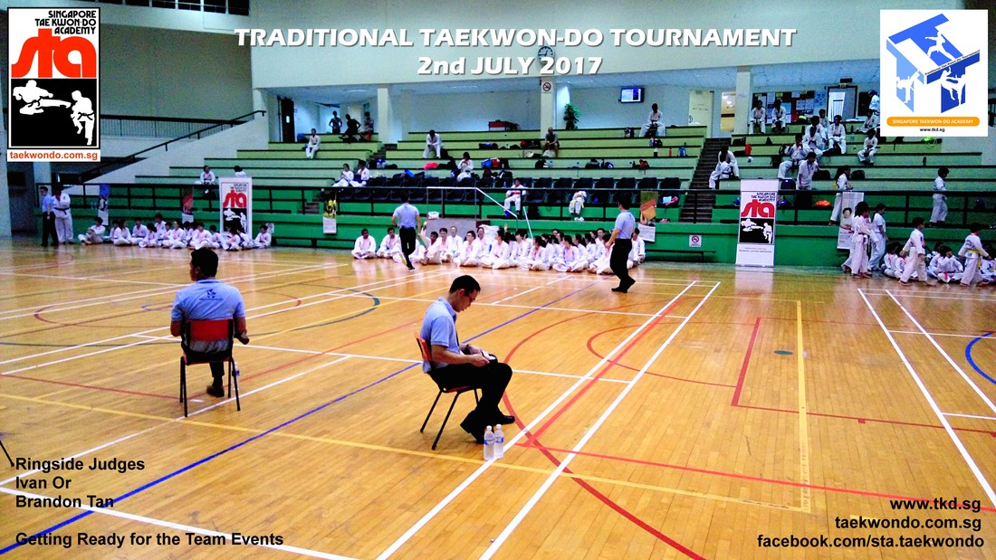 Ringside Judge Ivan Or and Brandon Tan, Traditional Taekwon-do Tournament 2017