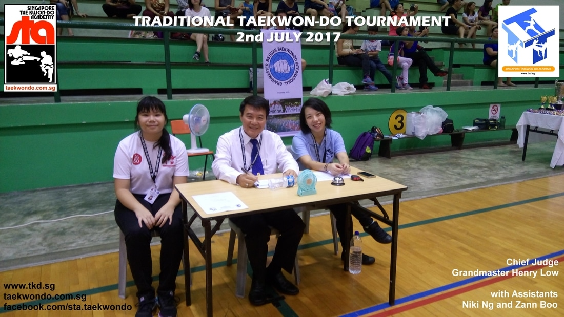 Chief Judge Grandmaster Henry Low, Traditional Taekwon-do Tournament 2017