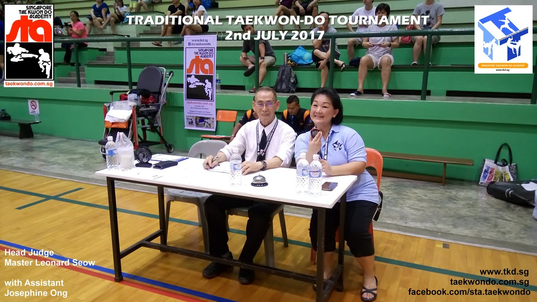 Head Judge Master Leonard Seow, Traditional Taekwon-do Tournament 2017