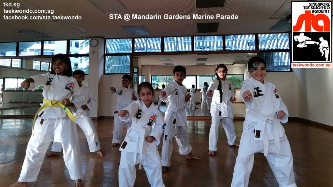 Mandarin Gardens Training Marine Parade Siglap East Coast Bedok Anjanette Huan Kids Children Private Best Taekwondo School Class Lessons Singapore Taekwon-do Academy HQ TKD SG