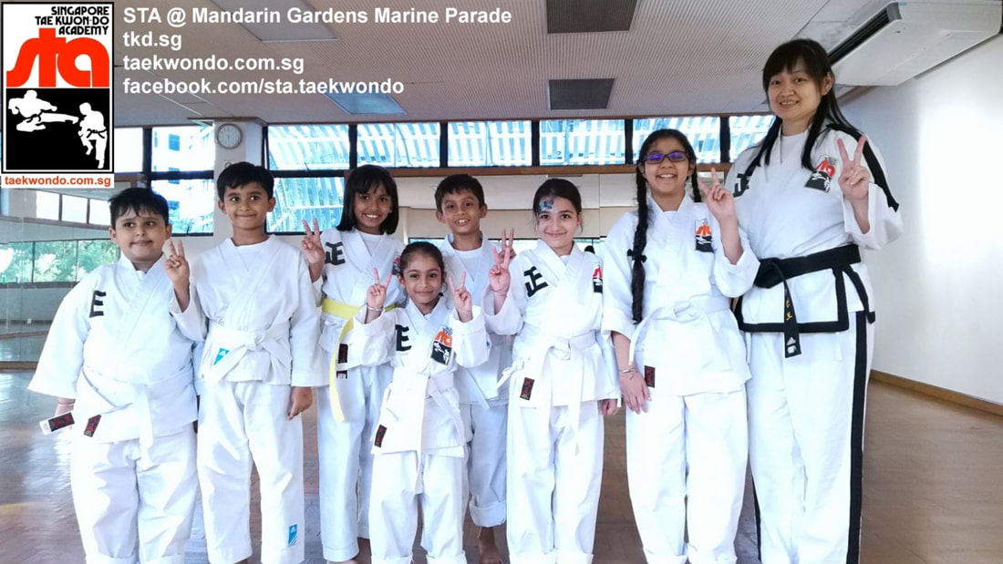 Mandarin Gardens Group Senior Instructor Anjanette Huan Marine Parade Siglap East Coast Bedok Kids Children Private Best Taekwondo School Class Lessons Singapore Taekwon-do Academy HQ TKD SG