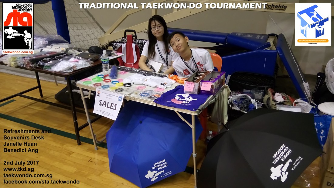 Refreshments and Souvenirs Desk, Traditional Taekwon-do Tournament 2017