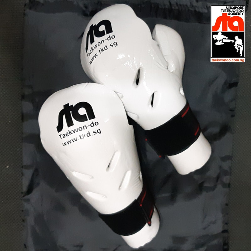 STA Sparring Gloves Fist Guards Protectors Singapore Taekwon-do Academy HQ Taekwondo Grandmaster BS Huan International TKD
