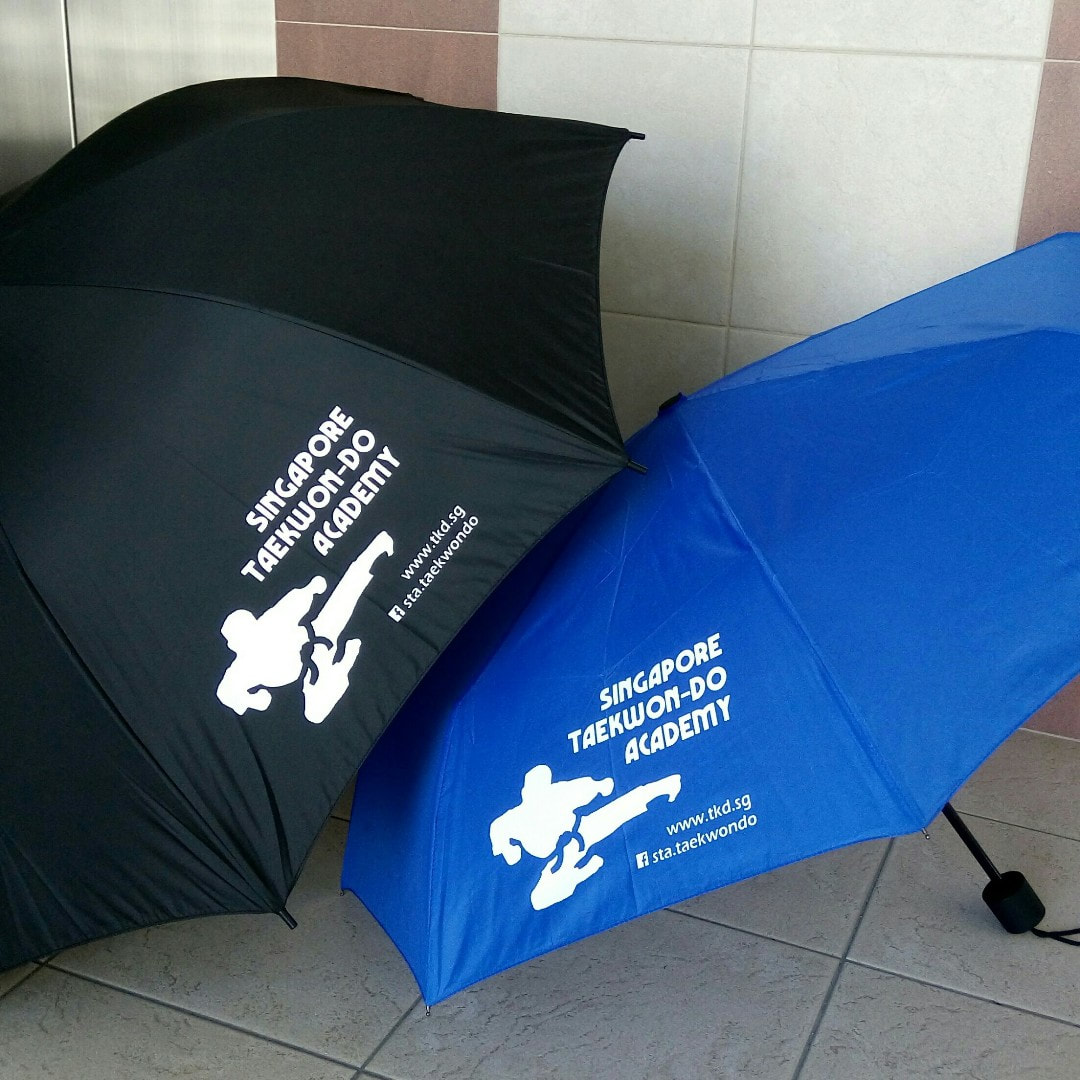 Umbrella Jumping Kick Logo Limited Edition Singapore Taekwon-do Academy HQ Taekwondo TKD SG