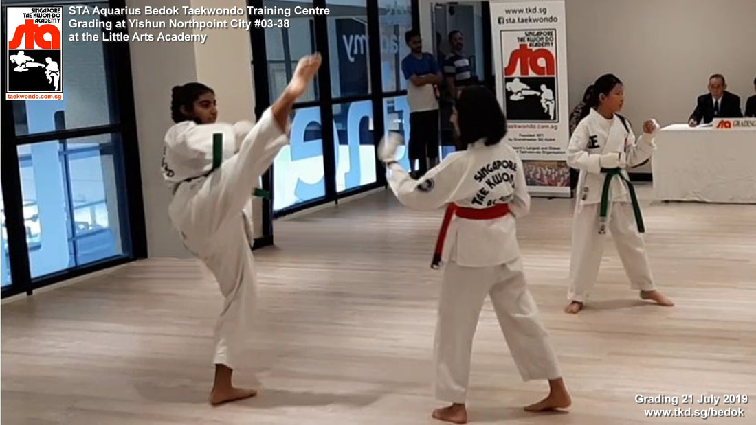 Grading Yishun Northpoint City Little Arts Academy Singapore Taekwondo Academy TKD Instructor Adrian Huan Grandmaster BS Huan International School 21 July 2019 STA